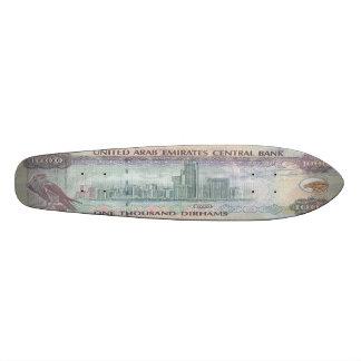 1,000 UAE Dirham Banknote Oldschool Skateboard Deck