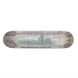 1,000 UAE Dirham Banknote Skateboard Pro
