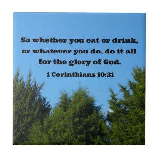 1 10 31 de los Corinthians así que si usted come o Azulejos