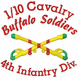 1/10th Cavalry 4th Inf. Div. Crossed Sabers Shirt