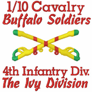 1/10th Cavalry 4th Inf. Div. Crossed Sabers Shirt Polo Shirt