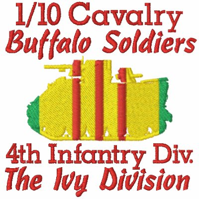 1/10th Cavalry 4th Inf. Div. M113 Track Polo Shirt