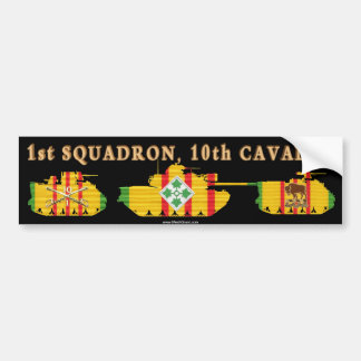 1/10th Cavalry VSR Armored Fighting Vehicles Car Bumper Sticker