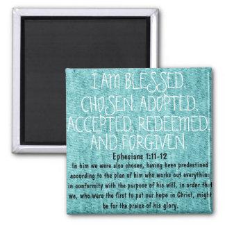1:11 de Ephesians del estímulo del verso de la bib Imán Cuadrado