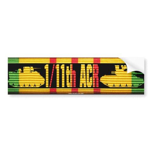 1/11th ACR VSM Ribbon Cut-Out Bumper Sticker zazzle_bumpersticker
