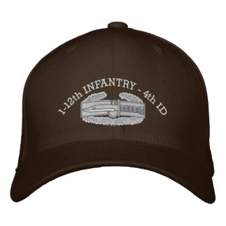 1-12th Infantry CMB & Iraq Campaign Ribbon Hat Embroidered Baseball Caps