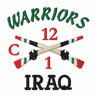 1-12th Infantry Crossed Rifles Shirt