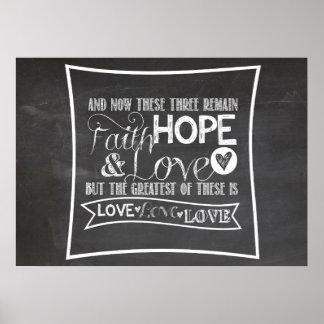 1 13 13 de los Corinthians - poster de la pizarra