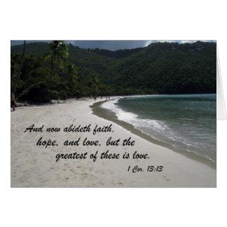 1 13:13 de los Corinthians Tarjeta
