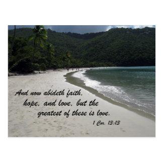 1 13:13 de los Corinthians Tarjeta Postal
