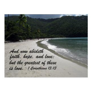 1 13:13 de los Corinthians Postales