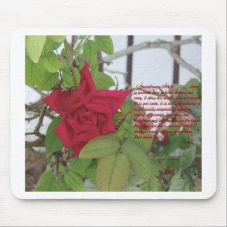 1 13:4 del Corinthian - el amor 8 es ..... Mousepa Tapetes De Ratón