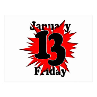 1-13 Friday the 13th Postcard