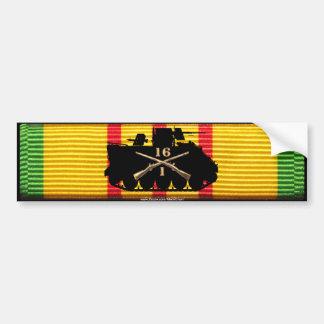 1/16th Inf Track on VSM Ribbon Bumper Bumper Sticker