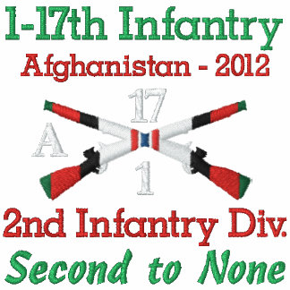 1-17th Inf. Afghanistan Crossed Rifles Shirt
