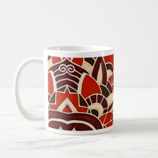 #1 1928 Deco glass panel from the Oviatt Building Classic White Coffee Mug