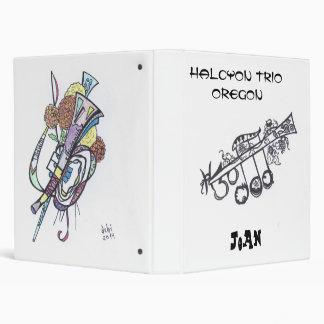 """1-1/2"""" 3-ring binder:  H3O/Joan Binder"""