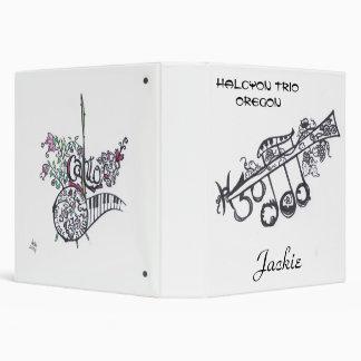 """1-1/2"""" carpeta de anillo 3:  H3O/Jackie"""