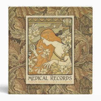 1 1/2 Inch Medical Records Art Nouveau Binder