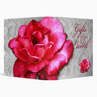 """1-1/2"""" Large Single Red Rose Binder"""