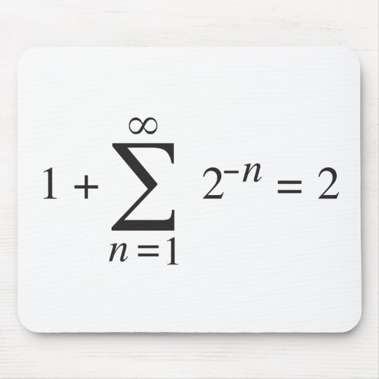1 + 1 = 2 _ summation notation mouse pad