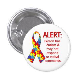 """(1 1/4"""") Autism Alert 1 Buttons"""