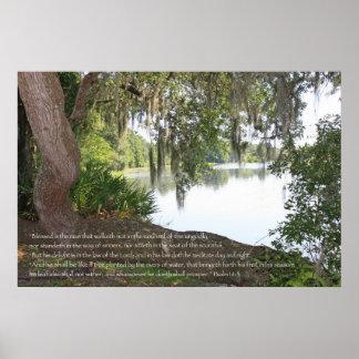 1:1 del salmo - poster de 3 escrituras