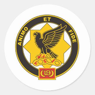 1-1 regimiento de caballería etiqueta redonda