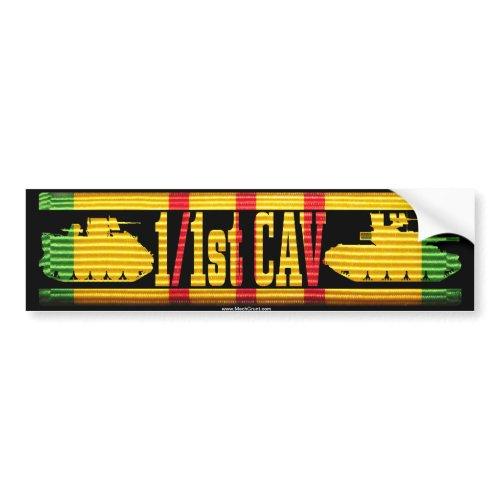 1/1st Cav Track & Tank Bumper Sticker bumpersticker