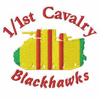 1/1st Cavalry M113 Track Embroidered Shirt