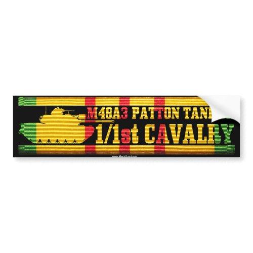 1/1st Cavalry M48A3 Tanker Bumper Sticker bumpersticker