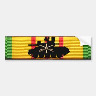 1/1st Cavalry M551 on VSM Ribbon Car Bumper Sticker