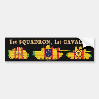 1/1st Cavalry VSR Armored Vehicles Bumper Sticker