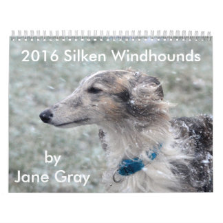 1 2016 Silken Windhounds by Jane Gray Calendar