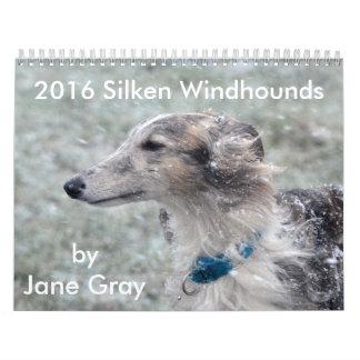 1 2016 Silken Windhounds by Jane Gray Calendar