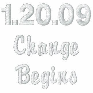 1 20 09 Change Begins Embroidered Sweatshirt