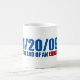 1/20/09 End of an Error Classic White Coffee Mug