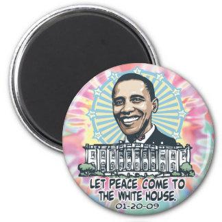 1-20-09 Obama Peace White House Inauguration Gear Magnet