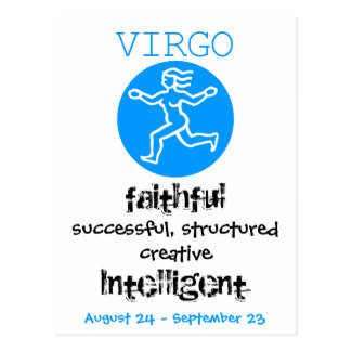 $1.20 - € 0,95  Zodiac sign Virgo Birthday card Postcard