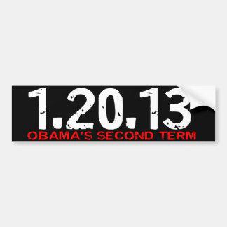 1.20.13 De Obama pegatina para el parachoques del  Pegatina De Parachoque
