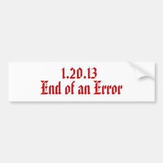 1.20.13 , End of an Error Car Bumper Sticker