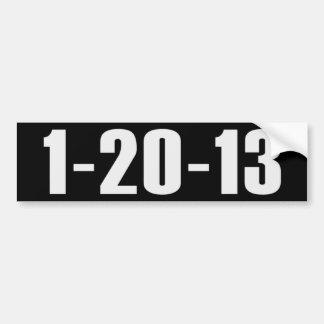 1-20-13 Obama anti Bumpersticker Pegatina De Parachoque