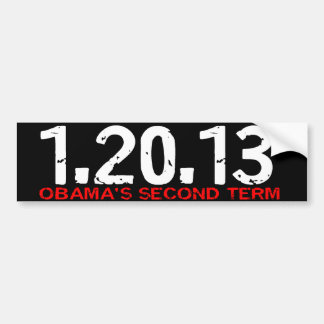 1.20.13 Obama's Second Term Bumper Sticker