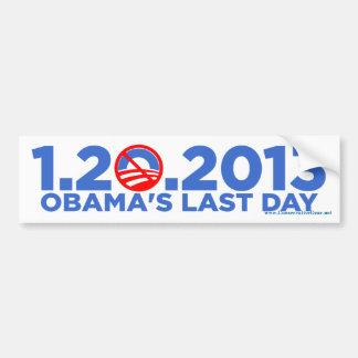 1.20.2009 bsZ pasado de Dat de Obama Pegatina Para Auto