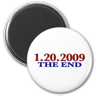1-20-2009 The End 2 Inch Round Magnet
