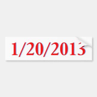 1/20/2013 CAR BUMPER STICKER