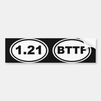 ¡1,21 Gigawatts?! (Edición oblicua adicional) Pegatina Para Auto