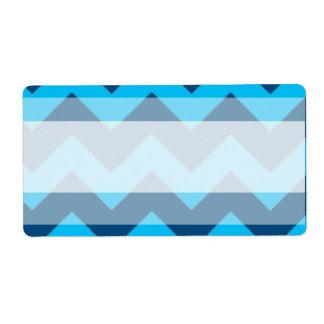1,25 azules de Chevron de la dirección del correo Etiquetas De Envío