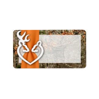 """1,25 ciervos de la dirección del correo """" x2.75"""" etiqueta de dirección"""