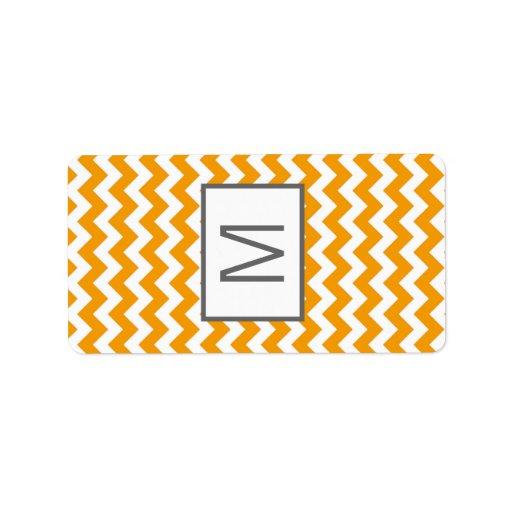 """1,25 Gre amarillos miniatura Chevron de """" x2.75"""" H Etiquetas De Dirección"""